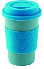 Outwell Bambus-Becher mit Deckel Blau