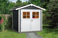 weka Holzbau Gartenhaus 224 Gr. 1 anthrazit (205 x 209 cm)