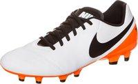 Nike Tiempo Genio II Leather FG white/black/total orange