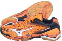 Mizuno Wave Mirage orange camo/white/black