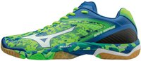 Mizuno Wave Mirage green gecko/white/skydiver