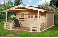 weka Holzbau Gartenhaus 136 A Gr. 2 (380 x 380 + VD 200 cm)