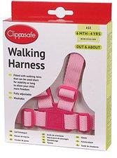 Clippasafe Schutzgürtel mit Laufleine pink