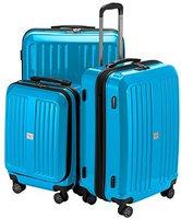 Hauptstadtkoffer X-Berg Spinner Set 55/65/75 cm glossy cyan blue