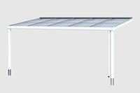 Skanholz Aluminium-Terrassenüberdachung Modena weiß (541 x 307 cm)