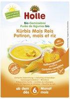 Holle Bio-Gemüsebrei Kürbis Mais Reis (175g)