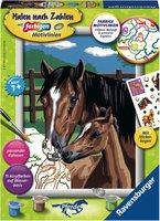 Ravensburger Malen nach Zahlen Pferd mit Fohlen