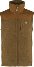 Fjällräven Buck Fleece Vest Men Fog / Dark Grey