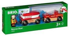 Brio Feuerwehr-Boot mit Transporter (33859)
