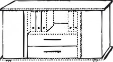 Hammerbacher Sideboard grau/grau  (SBTS/5/5)