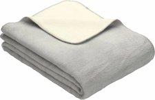 Ibena Sorrento Doubleface 150x200cm silber/wollweiß
