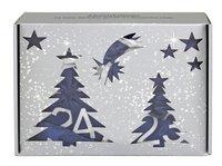 BriConti GmbH Satin Adventskalender Blau/Silber