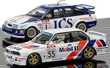 ScaleXtric Touring Car Legends Twinpack - Ford Sierra RS500 and BMW E30