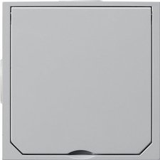 Gira Fußbodenleergehäuse 1-fach aluminium (011800)