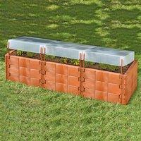Juwel Hochbeet XL mit 3 Thermohauben terracota