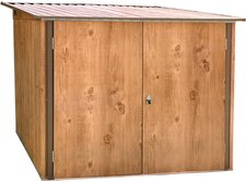 Tepro Fahrradbox Holz-Dekor