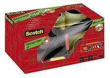 Scotch Handabroller + 10 Rollen Verpackungsklebeband 50mm x 66m transparent (309R10D)