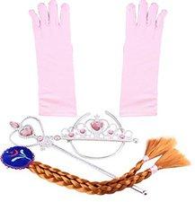 Katara Prinzessin Diadem-Set rosa/braun 4-teilig (1008-0003)