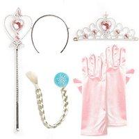 Katara Prinzessin Diadem-Set rosa/blond 4-teilig (1008-0005)