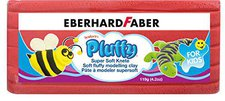 Eberhard Faber Super Soft Knete Pluffy 119g rot