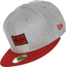 New Era Heather Patched 59FIFTY grey/red