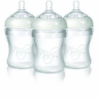 Nuby Natural Touch Weithalsflasche  Silikon 210 ml 3er Pack