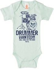 Logoshirt Drummer Wanted Baby Body