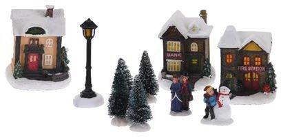 Weihnachtsdorf beleuchtet