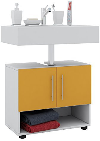 Waschbeckenunterschrank orange