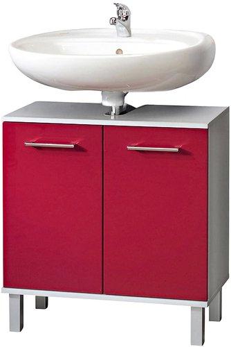 Waschbeckenunterschrank rot