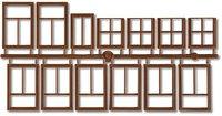 Faller 333109 - Fenster braun