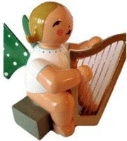 Wendt & Kühn Engel mit Harfe sitzend