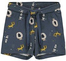 Green Cotton Shorts Jungen