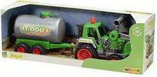 Wader FARMER Traktor mit Frontlader und Fasswagen (39182)