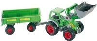 Wader FARMER Traktor mit Frontlader und 2-Achs-Anhänger (39202)