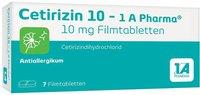 1A Pharma Cetirizin 10 Filmtabletten (7 Stück)