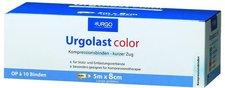 URGO Urgolast Color Binde 8 cm x 5 m Blau (10 Stk.)
