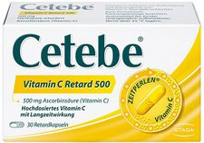 Cetebe Vitamin C Retardkapseln 500 mg (30 Stk.)