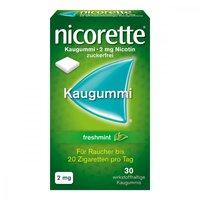 Pfizer Nicorette 2 Mg Freshmint Kaugummi (30 Stück)