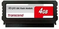 Transcend IDE Flash Modul (40Pin/V) 4GB