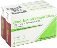 biomo Veno Retard 50 Mg Tabletten (2 x 100 Stück)