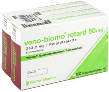 biomo Veno Retard 50 Mg Tabletten (2 x 100 Stück)
