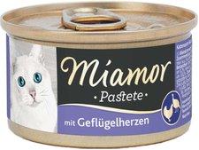 Miamor Pastete Geflügelherzen (85 g)