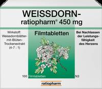 ratiopharm Weissdorn 450 Mg Filmtabletten (100 Stk.)