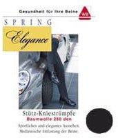 Spring Medical Elegance Kniestrumpf 280den schwarz 45/46