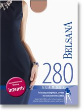 BELSANA Glamour 280den Strumpfhose für Schwangere M nougat