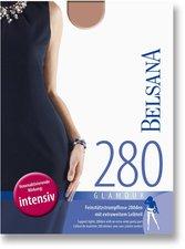 BELSANA Glamour 280den Strumpfhose kurz für Schwangere L perle