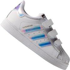 big sale 7e560 9df47 adidas Originals Superstar Kleinkind-Sneaker Klettverschluss-Schuhe  Kinderschuhe (Farbe  White Silver