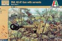 Italeri Deutsche Soldaten und PAK40 Kanone WWII (6879)