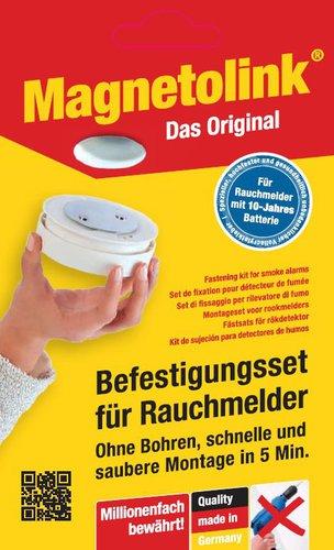 Magnetolink Befestigungsset für Rauchmelder